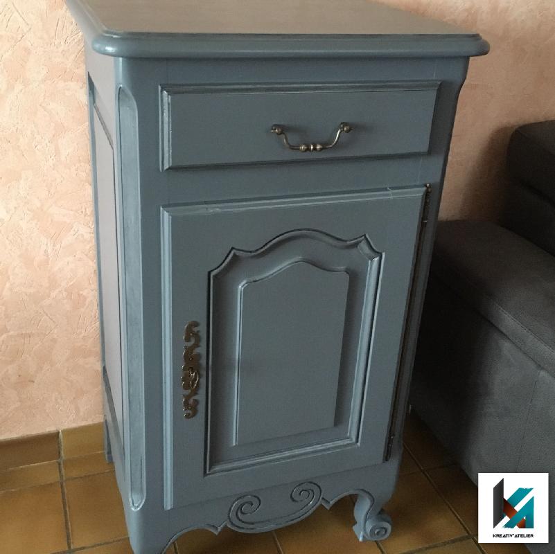 petit meuble rustique relooké- Après